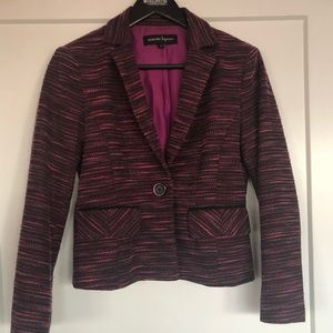Nanette Lepore Magenta Tweed Jacket - MINT!